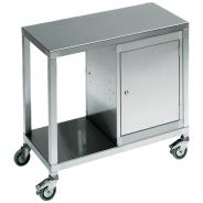 Stainless Steel Trolley with Cabinets
