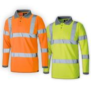 Dickies Long Sleeved Hi Vis Polo Shirt