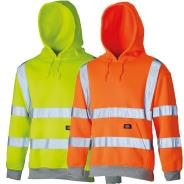Dickies Hi Vis Hooded Sweatshirts