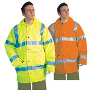 Hi-Vis Lined Rain Jacket