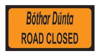 Road Closed Add-on Plate