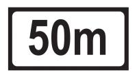 Distance 50m Add-on Plate