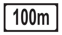 Distance 100m Add-on Plate