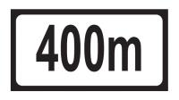 Distance 400m Add-on Plate