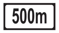 Distance 500m Add-on Plate