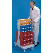 Double Sided Trolley and Bin Set