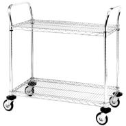 Chrome Wire Trolleys 2 Shelf