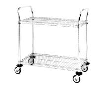 Metro Chrome Wire Trolleys 2 Shelf