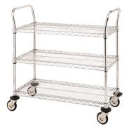 Chrome Wire Trolleys 3 Shelf