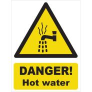 Danger! Hot Water Signs