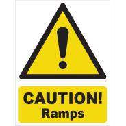Caution! Ramps Signs