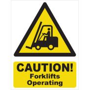 Caution! Forklifts Operating Signs