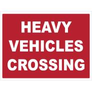 Heavy Vehicles Crossing Signs