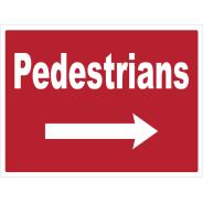 Pedestrians Right Signs