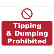 Tipping & Dumping Prohibited Signs