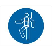Wear Safety Harness Symbol Signs