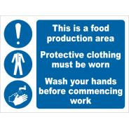 Food Production Area Signs