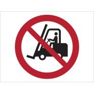 No Access For Fork Lift Trucks Symbol Signs