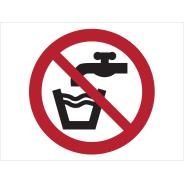 No Drinking Water Symbol Signs