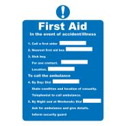 First Aid Signs SD 716