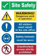 Site Safety Warning Sign