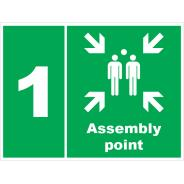 Assembly Point 1 Signs