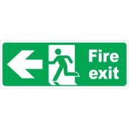 Fire Exit Running Man Left Arrow Signs
