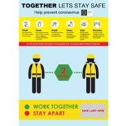 Together Lets Stay Safe Self-Adhesive Poster