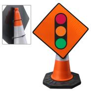 Temporary Traffic Signals Cone Sign