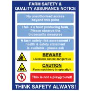 Farm Safety & Quality Assurance Sign