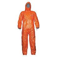 DuPont Tychem Hooded Orange Coveralls
