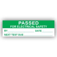 PremPak Write-On Labels - Passed (Electrical)