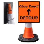 """Cone Mountable """"Detour Up"""" Square Sign"""